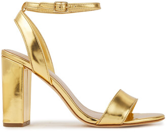 Sandro Metallic Leather Sandals