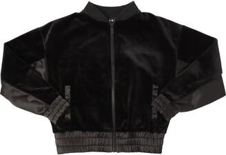 DKNY Velvet Sweatshirt W/ Nylon Detail