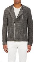 John Varvatos Men's Linen-Blend Slim-Fit Moto Jacket