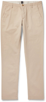 HUGO BOSS Tapered Stretch-Cotton Twill Trousers