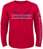 Reebok Boys' Long-Sleeve Washington Capitals Line Up T-Shirt