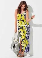 Kaleidoscope Petite Petite Bold Print Vest Maxi Dress