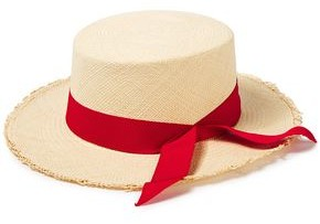 Sensi Canvas-trimmed Woven Toquilla Straw Panama Hat