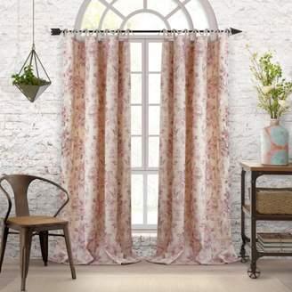 """Annalise Floral Curtain Panel, 52"""" x 95"""""""