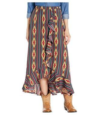 Rock and Roll Cowgirl High-Low Skirt 69-3647
