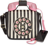 Betsey Johnson Phone Crossbody with Rhinestones