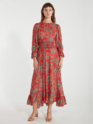 The Long Peasant Midi Dress
