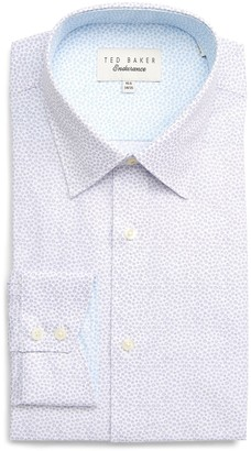Ted Baker Endurance Belugar Extra Slim Fit Dot Dress Shirt