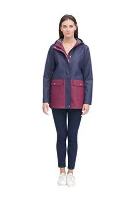 Levi's Ladies Outerwear Women's Midlength Rubberized PU Swing Rain Parka Jacket