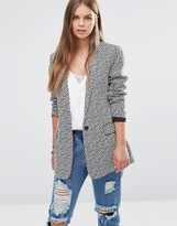 Maison Scotch Printed Long Blazer