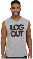 Life is Good Log Out Palms Muscle Tee
