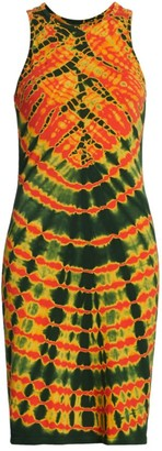 Raquel Allegra Tie-Dye Racerback Sheath Dress