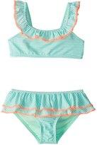 Hula Star Girls' Sailor Stripe Bikini Set (2T6X) - 8154257