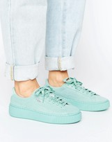 Puma Platform Sneakers In Blue Mono
