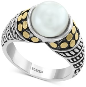 Effy Cultured Freshwater Pearl (9mm) Ring in Sterling Silver & 18k Gold Over Silver