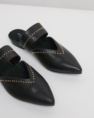 Walnut Melbourne Stacey Leather Mules