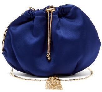 Rosantica Fatale Satin Cross-body Bag - Womens - Navy