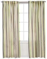 Bacati Green/Yellow/Chocolate Stripes Curtain Panel