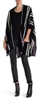 In Cashmere Striped Cashmere Kimono Sweater