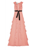 Gucci Viscose Jersey Gown with Ruffles