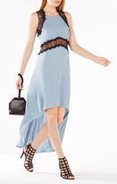 BCBGMAXAZRIA Agnella Lace-Trim High-Low Dress