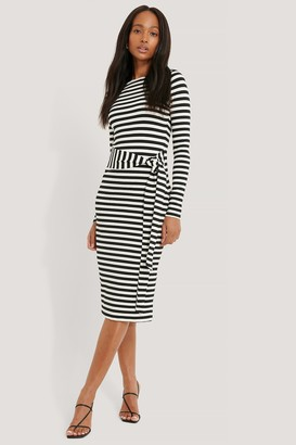 NA-KD Striped Jersey Dress