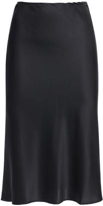 Ciao Lucia Valeria Silk Satin Midi Skirt