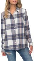 Roxy Women's Heavy Feelings Plaid Cotton Shirt