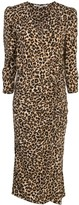Veronica Beard ruched leopard print dress