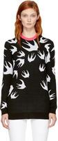 McQ Black Swallow Signature Sweater