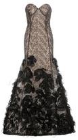 Oscar de la Renta Embellished Lace Gown
