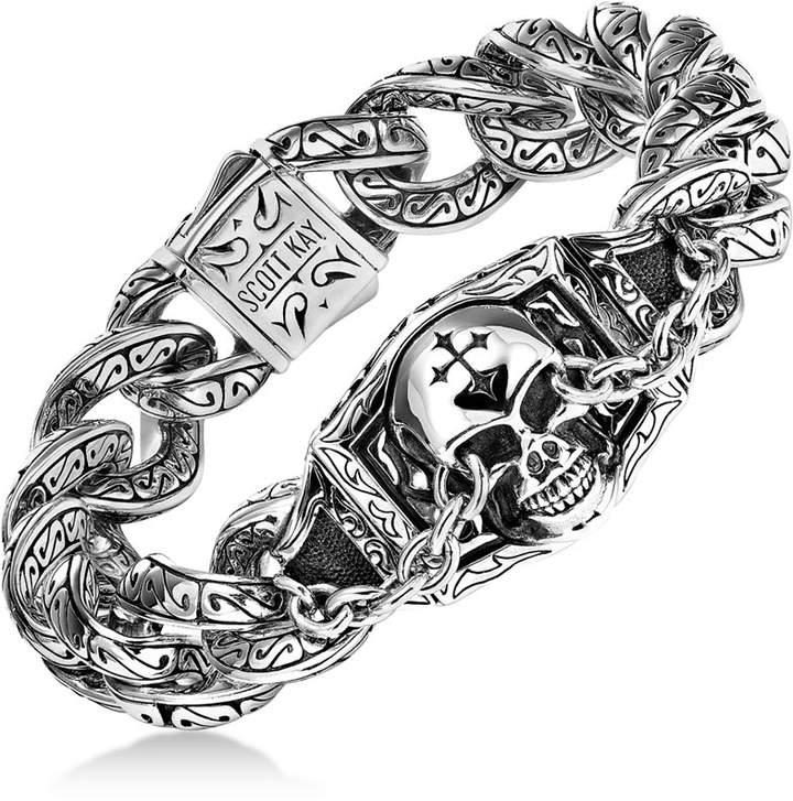 Scott Kay Men's Skull Link Bracelet in Sterling Silver