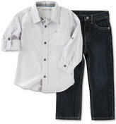 Calvin Klein Baby Boys' 2-Pk. Striped Shirt & Jeans Set