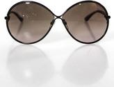 Tom Ford Purple Plastic Wire Round Framed Brown UV Lenses Designer Sunglasses