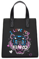 Kenzo Black Limited Edition Mini tiger X I Love You Tote