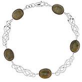 Celtic Sterling Silver Connemara Marble Link Bracelet