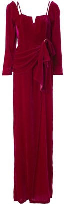 Alice McCall Moon Rising front slit gown