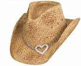 Peter Grimm Drifter Tea Stained HEART ATTACK Style Hat, Tea Stain Brown