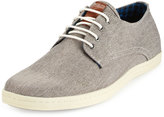 Ben Sherman Presley Oxford Canvas Sneaker, Gray Linen