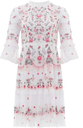 Needle & Thread Butterfly Meadow Embroidered Mini Dress