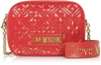 Love Moschino New Shiny Quilted Eco-Leather Shoulder Bag