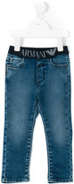 Armani Junior stretch-waist jeans - kids - Cotton/Spandex/Elastane - 18 mth