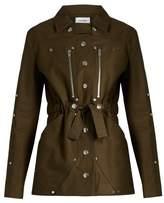 Courreges Belted stretch cotton jacket