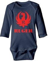 SDFE BODYSUITS Ruger Gun Long Sleeve Baby Bodysuits