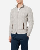 N.Peal The Richmond Cable Cashmere Cardigan