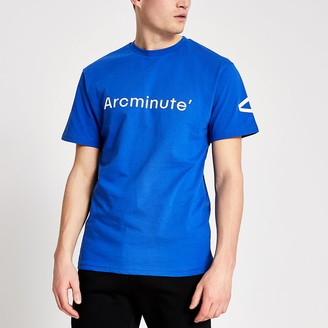 River Island Arcminute blue logo T-shirt