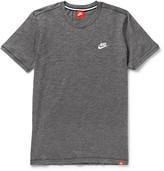 Nike Legacy Mélange Cotton-jersey T-shirt - Charcoal