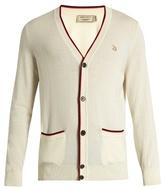 MAISON KITSUNÉ Fox-appliqué V-neck wool cardigan