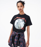 AeropostaleAeropostale And Justice For All Metallica Cropped Graphic Tee
