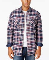 Weatherproof Vintage Men's Big and Tall Faux Fur-Lined Plaid Flannel Shirt Jacket, Classic Fit